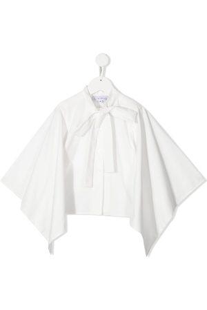 SEÑORITA LEMONIEZ Kioto organic cotton tied-neck blouse