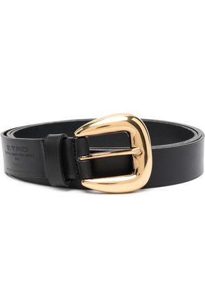 Etro Women Belts - Debossed logo buckle belt