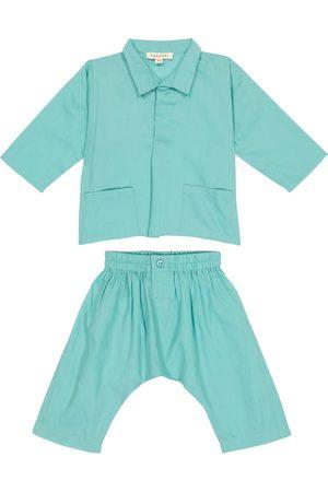Caramel Shirts - Baby Manta Ray cotton shirt and pants set
