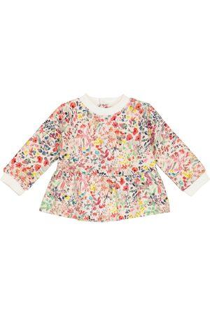 BONPOINT Sweatshirts - Baby floral cotton sweatshirt