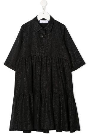 SEÑORITA LEMONIEZ Metallic-thread organic cotton dress