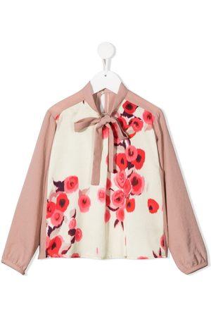 SEÑORITA LEMONIEZ Monet-print tie-neck blouse