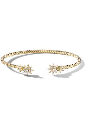 David Yurman Women Bracelets - 18kt yellow diamond Petite Starburst open bracelet