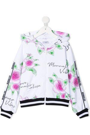MONNALISA Girls Jackets - All-over logo jacket