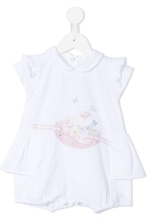 Lapin House Baby Bodysuits - Floral-print cotton shorties