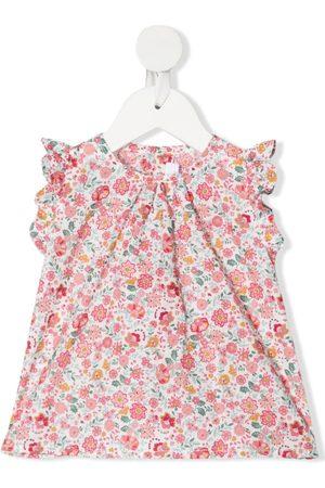 Mariella Ferrari Baby Tops - Floral-print ruffle sleeve top