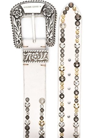 Golden Goose Women Belts - Lace stud-embellished belt