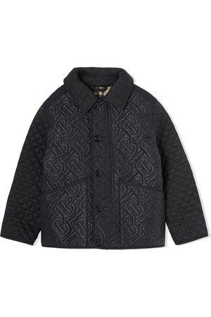 Burberry Boys Bomber Jackets - Monogram quilted bomber jacket