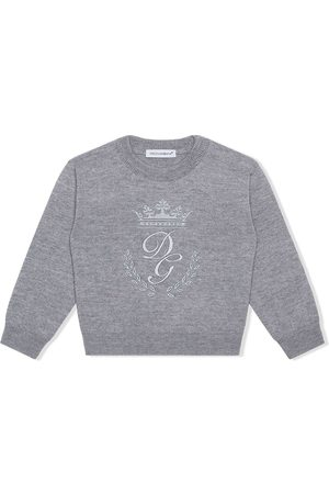 Dolce & Gabbana Baby Jumpers - Logo-embroidered jumper