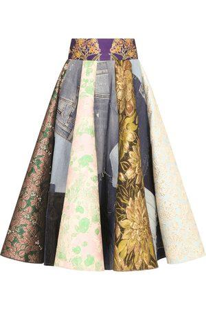 Dolce & Gabbana Women Printed Skirts - Patchwork-print midi skirt