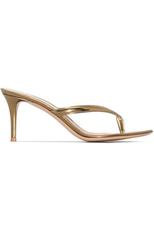 Gianvito Rossi Metallic Calypso 70mm sandals