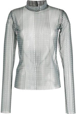 HENRIK VIBSKOV Printed sheer blouse