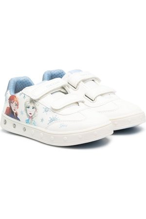 Geox Girls Sneakers - Graphic-print touch-strap trainers