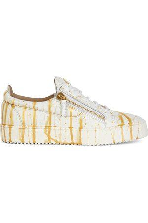 Giuseppe Zanotti Men Sneakers - Frankie splatter print sneakers