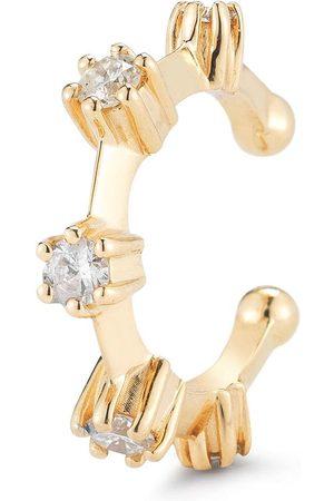 Jade Trau Women Earrings - 18kt yellow diamond Kismet ear cuff