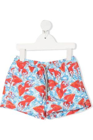 MC2 SAINT BARTH Boys Swimming Briefs - Goldfish print swim shorts