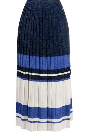 Twin-Set Women Printed Skirts - Striped-pattern pleated skirt