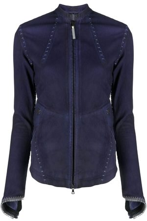 ISAAC SELLAM EXPERIENCE Stitch detail suede jacket