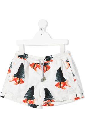 MC2 SAINT BARTH Goldfish-print swimming shorts