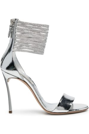 Casadei 100mm leather bead-cage sandals