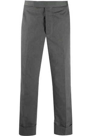 Thom Browne Men Formal Pants - Cropped tailored trousers