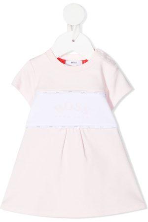 HUGO BOSS Baby Casual Dresses - Two-tone logo dress