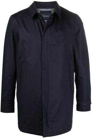 HERNO Men Rainwear - Classic-collar long-sleeve raincoat