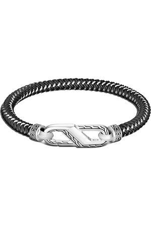 John Hardy Men Bracelets - Classic Chain steel cord carabiner bracelet