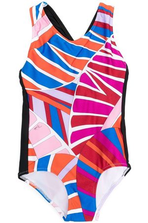 Emilio Pucci Girls Swimsuits - Abstract-print swimsuit