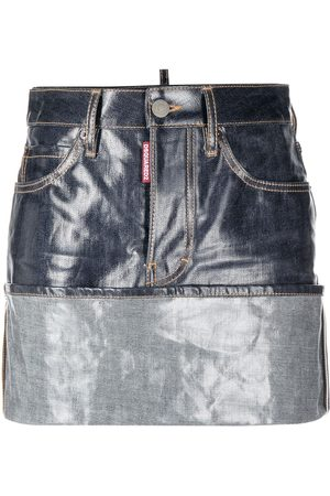 Dsquared2 Turn-up hem denim skirt