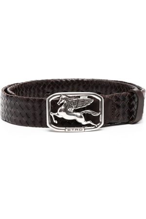 Etro Logo-buckle leather belt