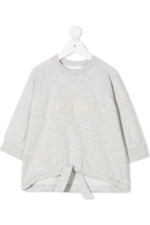 Chloé Girls Sweatshirts - Logo embroidered sweatshirt