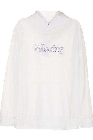 DOUBLET Sheer-veil hoodie