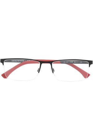 Emporio Armani Men Sunglasses - Rectangular semi-frame glasses