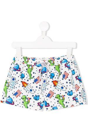 MC2 SAINT BARTH Alien print swim shorts