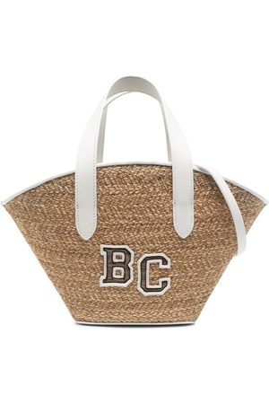 Brunello Cucinelli Logo-embroidered beach bag