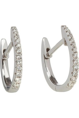 ANNOUSHKA Women Earrings - 18kt white Eclipse diamond hoop earrings