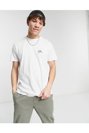 New Look Men Short Sleeve - T-shirt with embroidered NLM in
