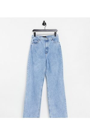 ASOS ASOS DESIGN Tall high rise 'relaxed' dad jeans in lightwash