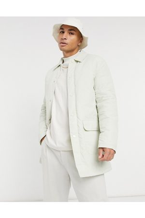 ASOS Men Trench Coats - Padded trench coat with quilted lining in stone
