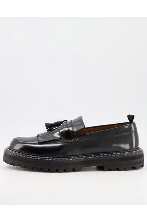 ASOS Men Loafers - Loafers in leather with chunky sole and contrast stitch