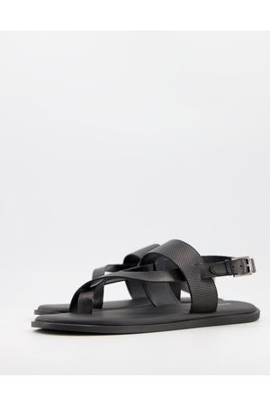 River Island Men Boots - Leather sandal in