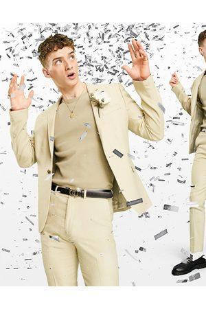 ASOS Men Blazers - Wedding skinny suit jacket in wool look in camel