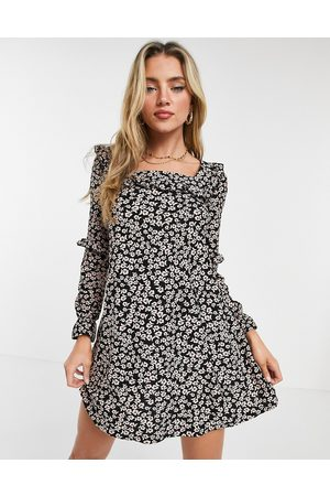 Miss Selfridge Women Casual Dresses - Frill detail smock dress in floral
