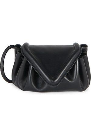 Bottega Veneta Small Beak Flap Leather Clutch