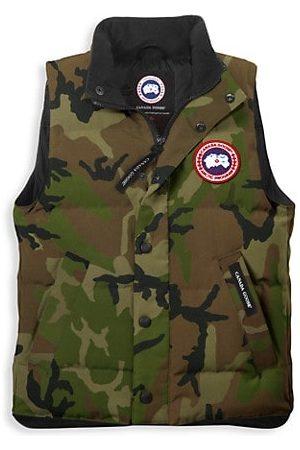 Canada Goose Boys Camisoles - Boy's Camouflage Down Vanier Vest
