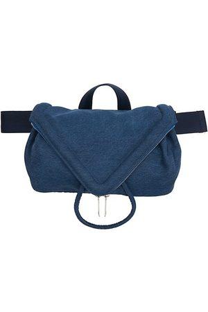 Bottega Veneta Beak Washed Denim Belt Bag