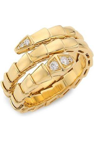BVLGARI Rings - Serpenti Viper 18K & Diamond 2-Coil Ring