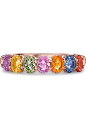 Pragnell 18kt rose gold sapphire Rainbow ring