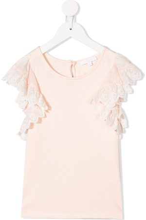 Chloé Ruffle-trimmed top